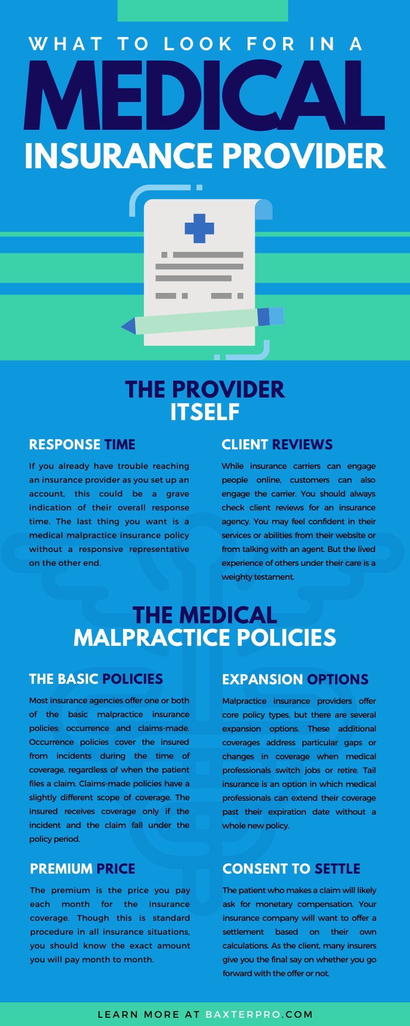 What To Look for in a Malpractice Insurance Provider